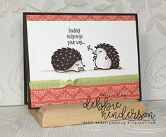 Debbie's Designs: RemARKably Created December Blog Hop using Stampin' Up! Hedgehugs, Friendships Sweetest Thoughts, Bubbles & Fizz Designer Paper. #stampinup #bubblesandfizz #hedgehugs #saleabration #occasions #debbiehenderson #debbiesdesigns