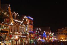 Christmas lighting festival in Leavenworth, Washington State.