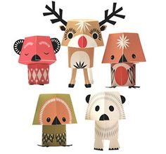 Xmas Creatures made of folded paper