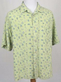 Nat Nast Hawaiian Shirt Large Limited Edition Summer Time Silk Row Boats Camp #NatNast #Hawaiian