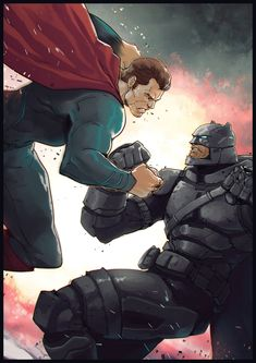 Batman VS Superman, Hicham Habchi on ArtStation at https://www.artstation.com/artwork/Rzv3O