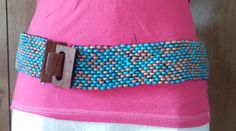 12.65$  Buy here - http://virtp.justgood.pw/vig/item.php?t=tlkzaqq44132 - Women's Belt Southwest Turquoise Brown Wood Beaded Beads Bohemian Fashion 35""