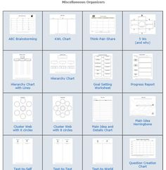 Here you will find 58 graphic organizers.