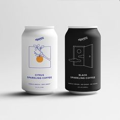 This Brooklyn Made Sparkling Citrus Coffee Is Your Summer Seltzer-Cold Brew Combo Food Packaging Design, Beverage Packaging, Coffee Packaging, Bottle Packaging, Packaging Design Inspiration, Brand Packaging, Web Design, Design Food, Brand Design