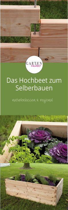 Einfach, praktisch und dekorativ! Gartenzauber Hochbeet 2, Lärchenholz, naturbelassen, regional, Stecksystem, DIY