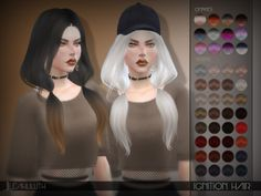 The Sims Resource - LeahLillith Ignition Hair for The Sims 4