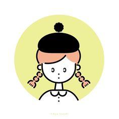 """142 Likes, 1 Comments - ササキアヤ / Aya Sasaki (@aya_sasaki) on Instagram: """". * * 《 ベレー帽ガール 》 * こちらも缶バッジになります◎ * * #イラスト #デザイン #illustagram #クリマ #クリエーターズマーケット * *"""""""