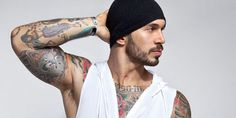 Model Alex Minsky continues his work with Jack Adams in a set of new photos showcasing the brands Zip Front Muscle Hoodie and Air Muscle Pullover Hoodie.