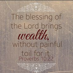 Seek God and He well bless you. Wealth is not just about money, it is about health, family and true joy and peace that can only come from God.  #God #GodsLove #Christian #ChristianLifestyle #Proverbs #Love #Lord #Mercy #GodsMercy #EternalLife #GodsPlans #Peace #GodGuidance #Jesus #JesusChrist #Scripture #BibleVerse #Verse #BibleScripture #Word #GodsWord #LetGodLead #EternalLife #JesusBlood #LuvAlwaysAngela