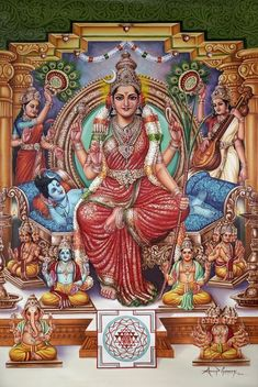 Shiva Parvati Images, Durga Images, Lakshmi Images, Shiva Shakti, Indian Goddess, Mother Goddess, Goddess Lakshmi, Divine Mother, Goddess Art