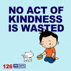 """126: Ahmad Says """"No act of kindness is wasted.""""  deenify.com"""