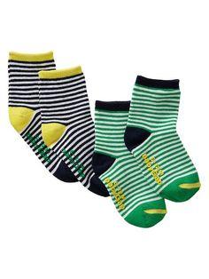 Contrast stripe socks (2-pack) Product Image