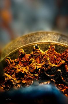 Muddy Rusty Sprockets - Original fine art macro sprocket photography by Bob Orsillo  Copyright (c)Bob Orsillo / http://orsillo.com All Rights Reserved