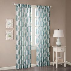 Madison Park Addison Anthro Burn Out Sheer Curtain