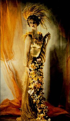 From Madame Yevonde's Goddess Series, shot using the Vivex colour process in 1935 - Lady Dorothy Warrender as Ceres