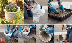 Vyrobte si betonové nebo kameninové korýtko do zahrady | Magazín zahrada