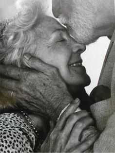 I hope we end up a cute, happy, old couple like this :D