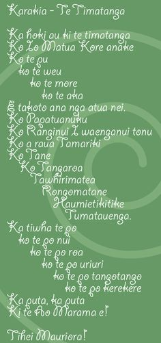 This month the kids have learned this new Karakia. They say it every morning at Kohanga Reo and Sabina can regularly be heard chanting it in the shower or while drawing on the magnadoodle. Her ca…