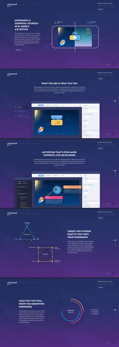 New Landing page design for Mixpanel by Julien Renvoye