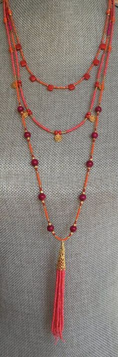 Multi strand Boho Necklace Luca