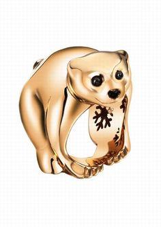 Anello orso di Chopard - Anelli con animali: preziosa selezione di anelli a forma di animali