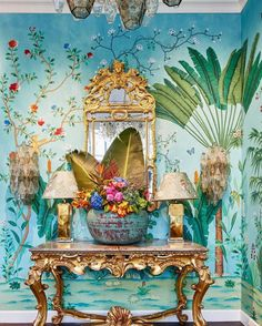 Aquazzura for de Gournay Collaboration - The Neo-Trad