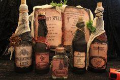 Halloween sort livre & Potion bouteille par HauntedMoonEmporium