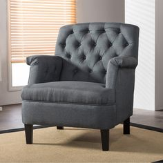 Baxton Studio Jester Classic Retro Modern Contemporary Grey Fabric... ($242) ❤ liked on Polyvore featuring home, furniture, chairs, accent chairs, grey, gray accent chair, gray upholstered chair, gray armchair, gray chair and patterned accent chairs