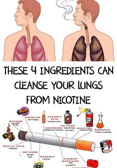 Nicotine is addictive and can cause a big number of health problems. These 4 Ingredients Can Cleanse Your Lungs From Nicotine! Ways To Stop Smoking, Quit Smoking Tips, Anti Smoking, Quitting Cigarettes, Stop Smoking Cigarettes, Nicotine Withdrawal, Nicotine Addiction, Good Health Tips, Health Advice