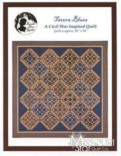 I just love this pattern, I want to find the pattern so i can start working on this one next..I just have to do this one...  Tavern Blues - A Civil War Inspired Quilt Pattern from Missouri Star Quilt Co