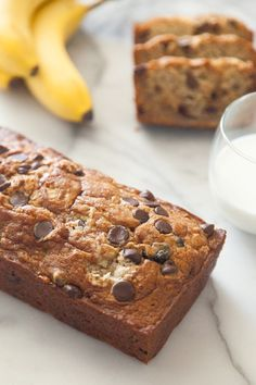 Chocolate chip banana bread from  What's Gaby Cooking