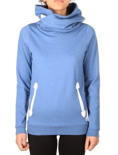 Cushy Basic Hoody [steel mel.] // IRIEDAILY Sweats Women // FALL/WINTER 2014: http://www.iriedaily.de/women-id/women-sweats/ #iriedaily
