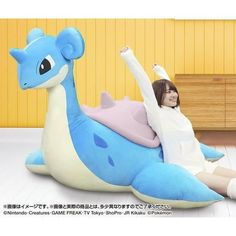 The Giant Lapras Plush Returns But in Much Bigger Version - Interest - Anime News Network Pokemon Mew, Pokemon Room, Pikachu, Pokemon Dolls, Pokemon Merchandise, Pokemon Birthday, Cute Stuffed Animals, Plush Pattern, Cute Plush