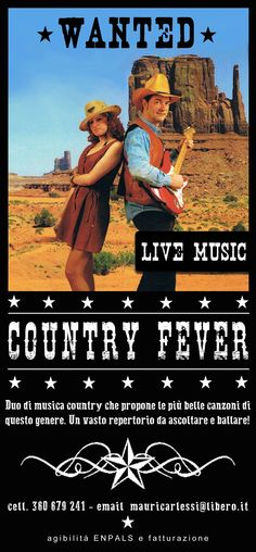 Graphic Redesign of a flyer for two country musicians - design by archiLAURA