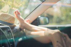 Feet on the Dashboard on a Sunny Day by suzanne clements - Stocksy United My Dashboard, The Dark Artifices, Photography Basics, Summer Solstice, Sexy Feet, Country Girls, Short Film, Girl Photos, Sunny Days