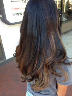 Baylage Highlights on Black Hair (My Hair- Done on 7/19/14)