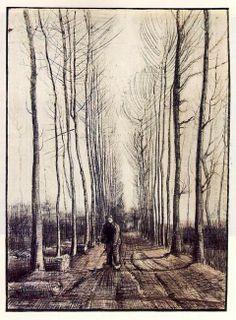 Arbres de peuplier 1884 - http://www.artisoo.com/fr/arbres-de-peuplier-1884-p-62213.html