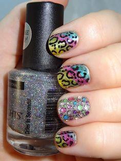 Lisa Frank Inspired Nail Art!