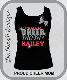 proud cheer mom bling and glitter tank top top mom cheer bling shirts bling