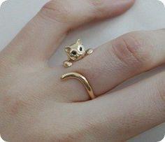 Beautiful cat ring for a fancy, feline-loving friend! Beautiful cat ring for a fancy, feline-loving friend! Beautiful cat ring for a fancy, feline-loving friend! Cat Ring, Girly, Gold Hands, Gyaru, Mode Style, Jewelry Accessories, Cat Jewelry, Hair Jewellery, Gold Jewelry