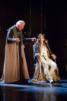 Oliver Ford Davies as Duke of York and David Tennant as Richard II in Richard II. Photo by Kwame Lestrade