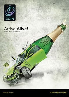 Publicité créatives contre l'alcool au volant. More at www.myminicom.com #CreativeAds #Alcohol