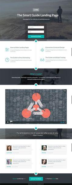 Livre eBook Landing Page Lead Form - Unbounce Conversion Centered Design Template Contest Winner