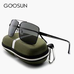 3d8d39fe026 GOOSUN High Quality Rectangle Polarized Sunglasses Men brand designer Retro  Sun Glasses Big Frame sunglass Fishing Eyewear-in Sunglasses from Men s  Clothing ...