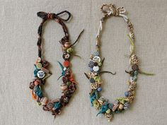 ideas with fabrics,beads and wrapping