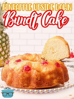 This recipe for homemade Pineapple Upside Down Bundt Cake is moist, fruity and absolutely tasty and so easy to slice and serve! Cake Bars, Pie Cake, No Bake Cake, Just Desserts, Dessert Recipes, Keto Recipes, Cake Recipes, Good Meatloaf Recipe, Pineapple Recipes