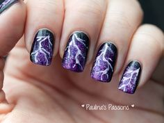 Lightning Nails.i wouldnt do it but cool for halloween or something.