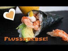 Temaki Sushi mit Flusskrebsen! Eine moderne Delikatesse mit einfachen Zutaten aus dem Supermarkt. Lecker :)