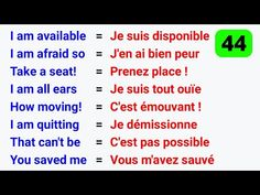 Basic French Words, French Phrases, How To Speak French, Language Study, Learn A New Language, Foreign Language, French Expressions, French Language Lessons, French Lessons