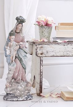 Love the Virgin always, but how beautifully she accents the vintage pieces.